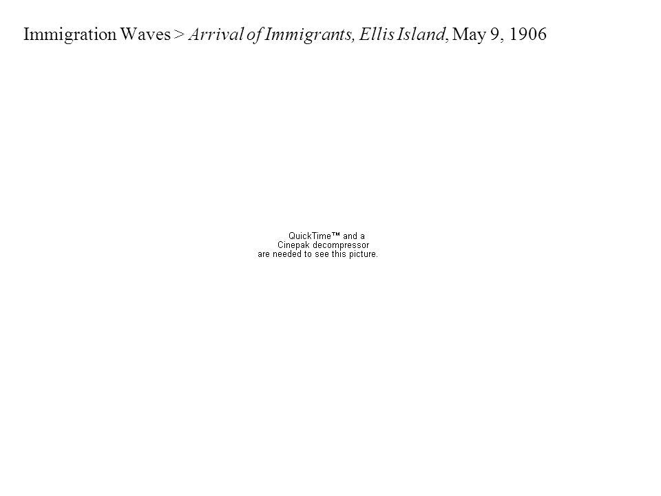 Immigration Waves > Arrival of Immigrants, Ellis Island, May 9, 1906