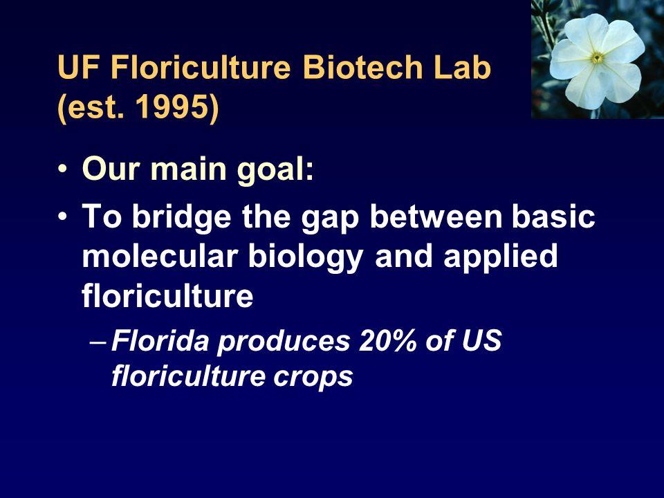 UF Floriculture Biotech Lab (est.