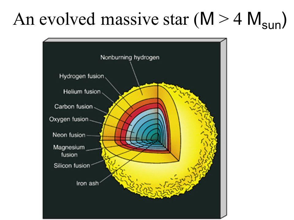 An evolved massive star ( M > 4 M sun )