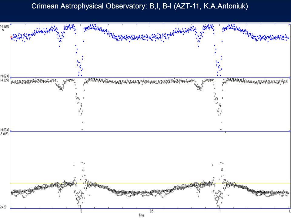 Crimean Astrophysical Observatory: B,I, B-I (AZT-11, K.A.Antoniuk)