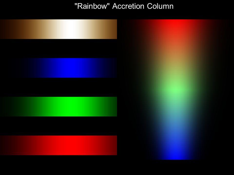 Rainbow Accretion Column