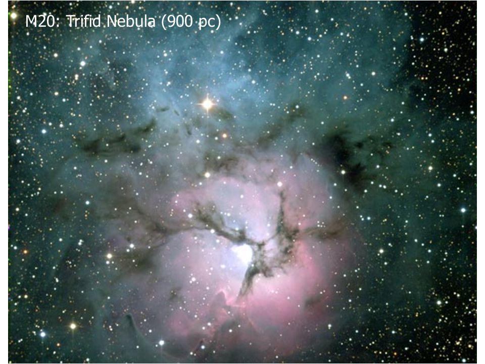 M20: Trifid Nebula (900 pc)