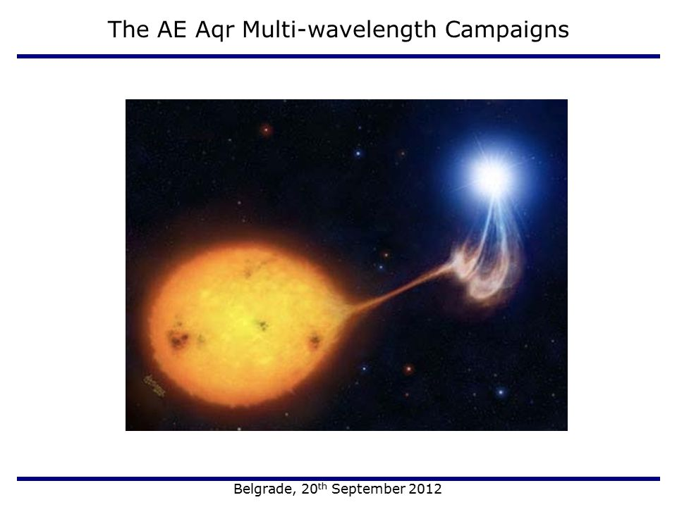 The AE Aqr Multi-wavelength Campaigns Belgrade, 20 th September 2012