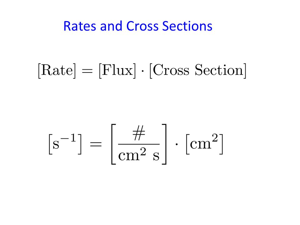 Rates and Cross Sections