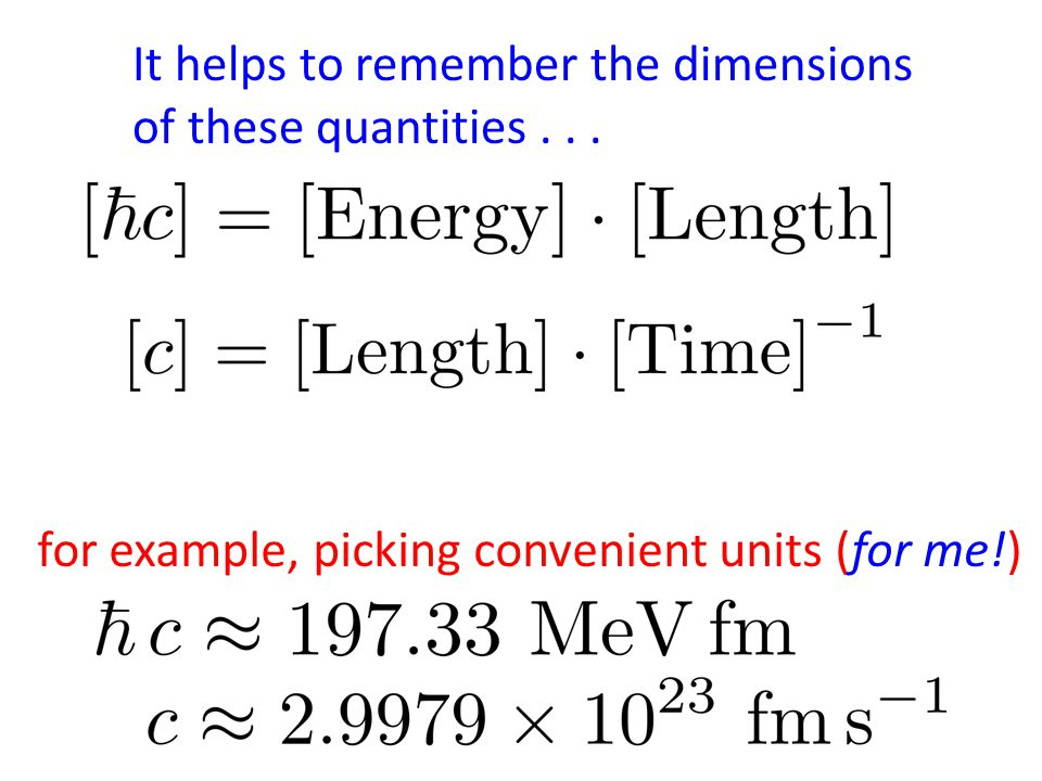 It helps to remember the dimensions of these quantities... for example, picking convenient units (for me!)