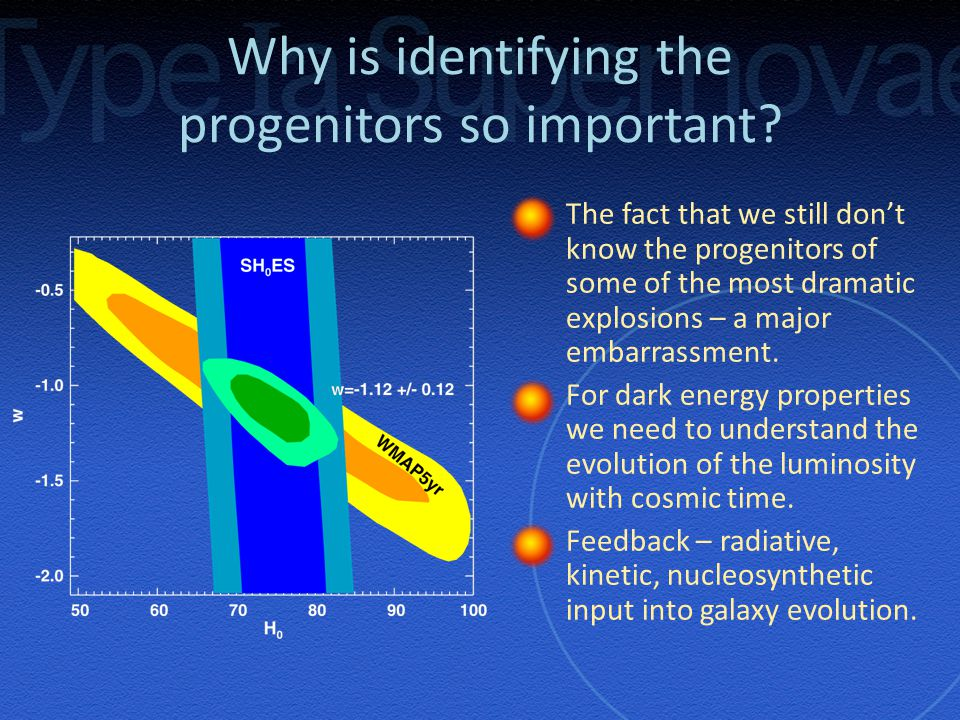 Why is identifying the progenitors so important.