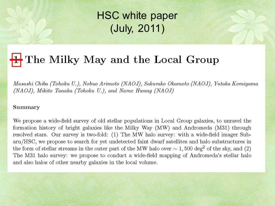 HSC white paper (July, 2011)