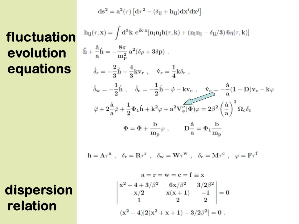fluctuation evolution equations dispersion relation