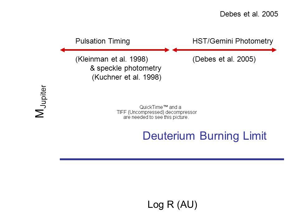 Pulsation Timing (Kleinman et al. 1998) & speckle photometry (Kuchner et al.