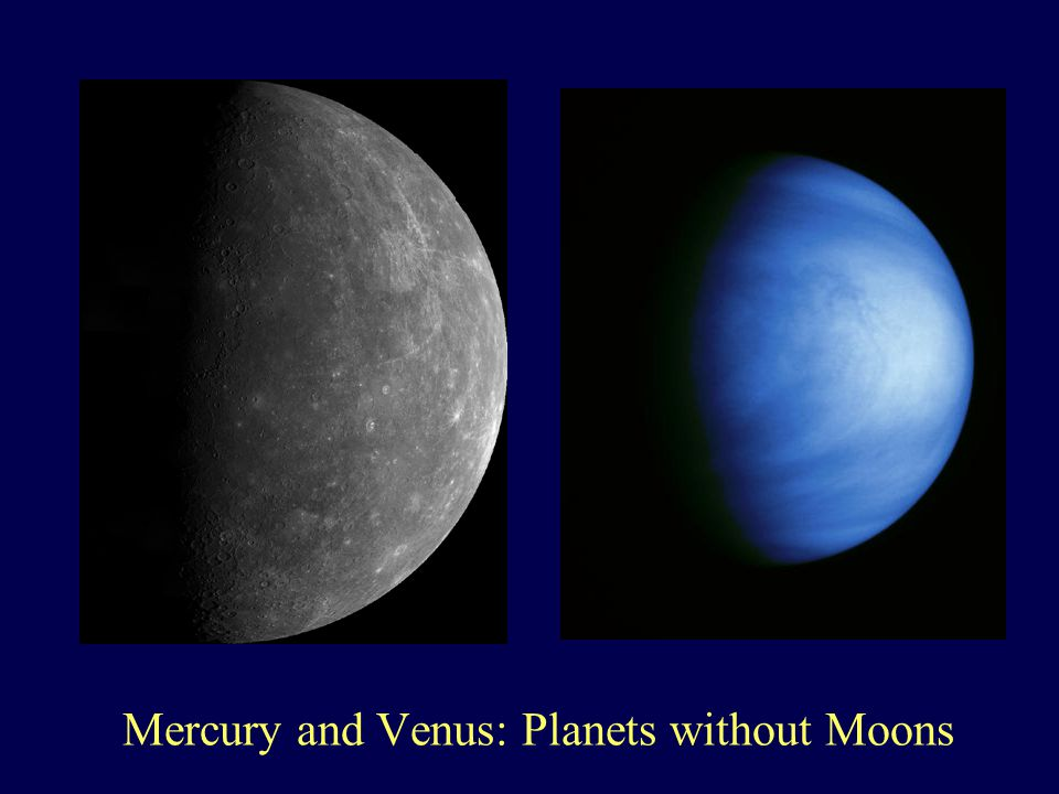 Mercury and Venus: Planets without Moons
