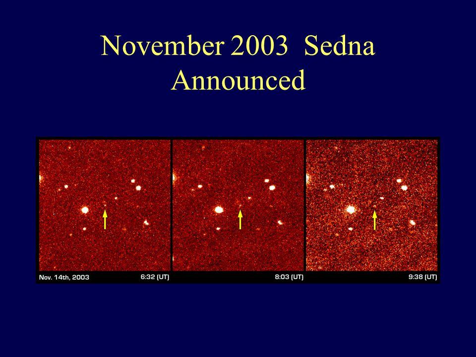 November 2003 Sedna Announced