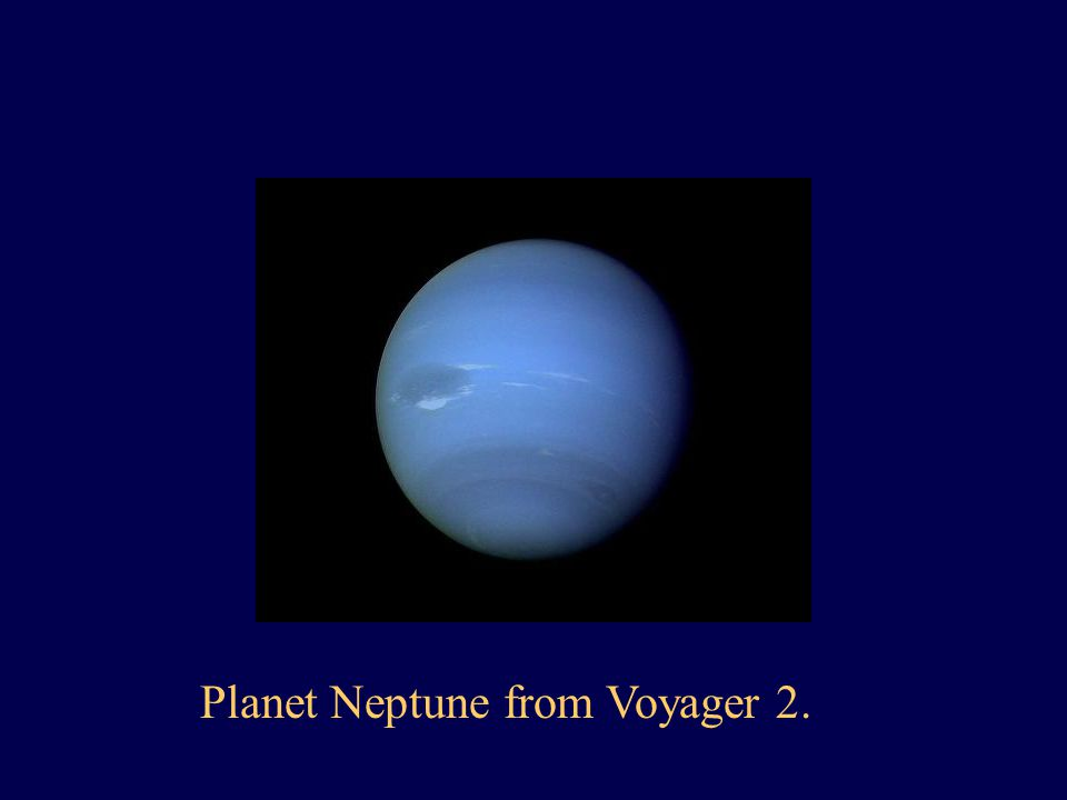 Planet Neptune from Voyager 2.