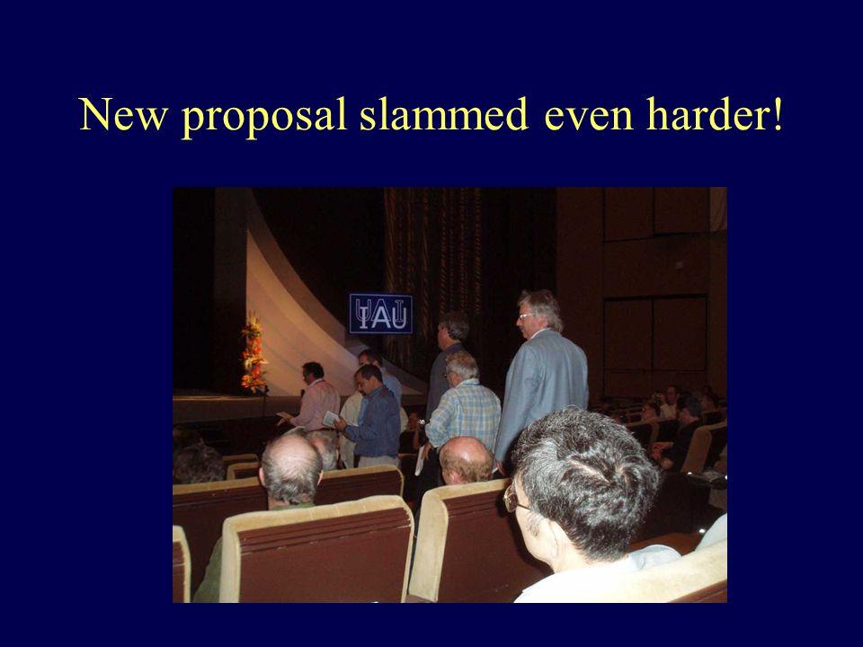 New proposal slammed even harder!