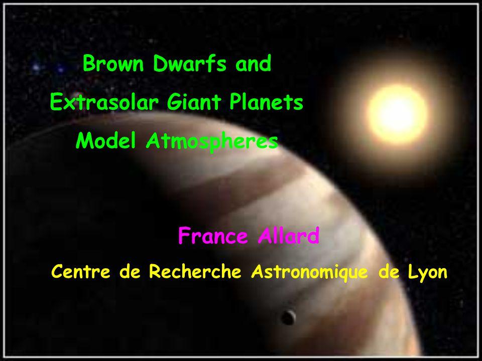Mol: 3500-2500K Dust: 2500-1700K CH 4 : ≤ 1700K Brown Dwarfs Spectral Properties 2500 18001000K Brown dwarf, cooling off through spectral types M, L and T according to models by Allard et al.
