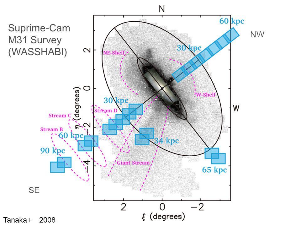 NW SE Suprime-Cam M31 Survey (WASSHABI) Tanaka+ 2008