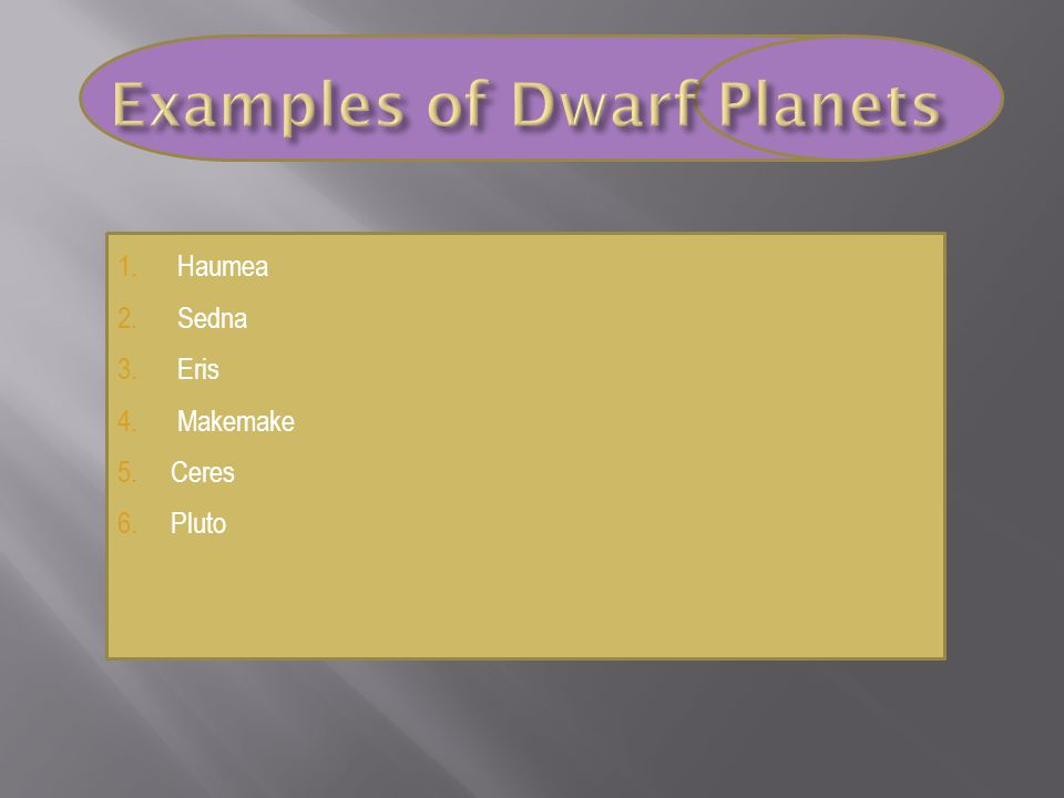  Discovered some dwarf planets  Astronomer