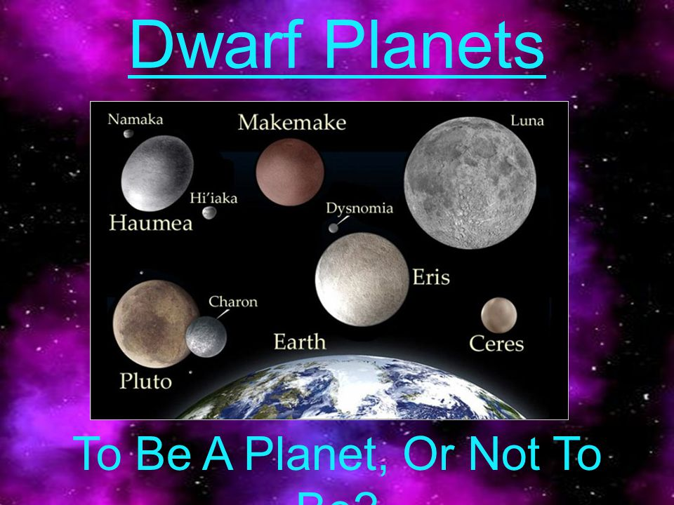 Dwarf Planets To Be A Planet, Or Not To Be?