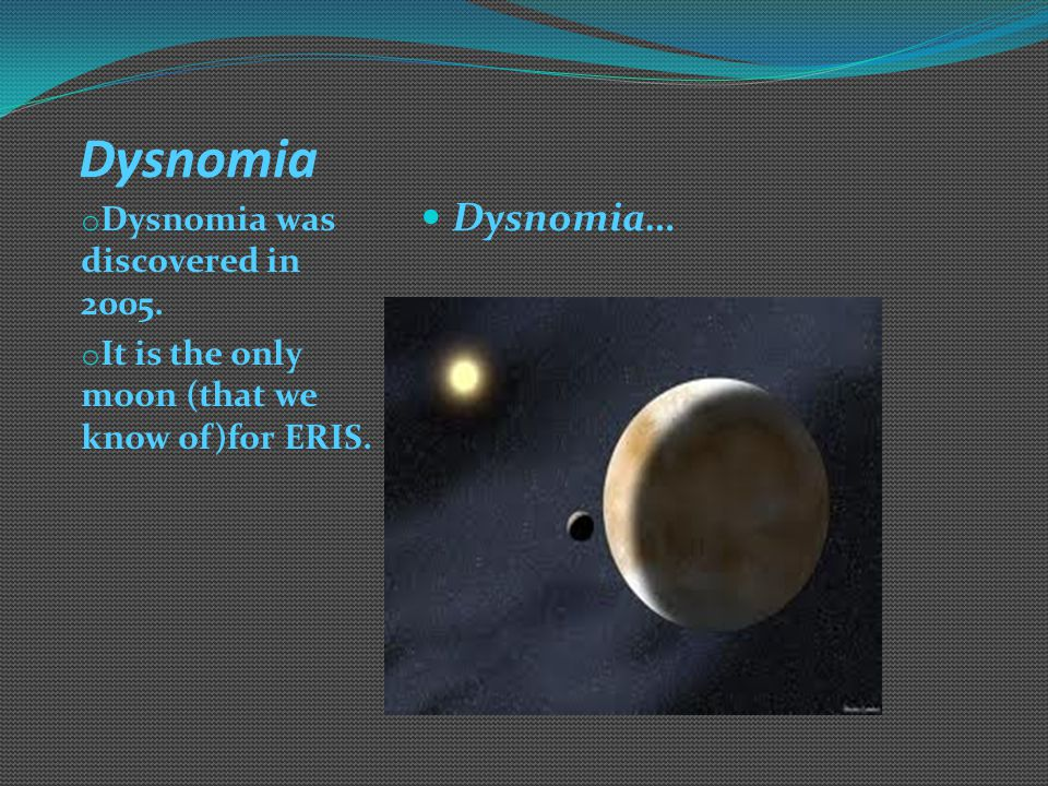 Eris and its moon: Dysnomia