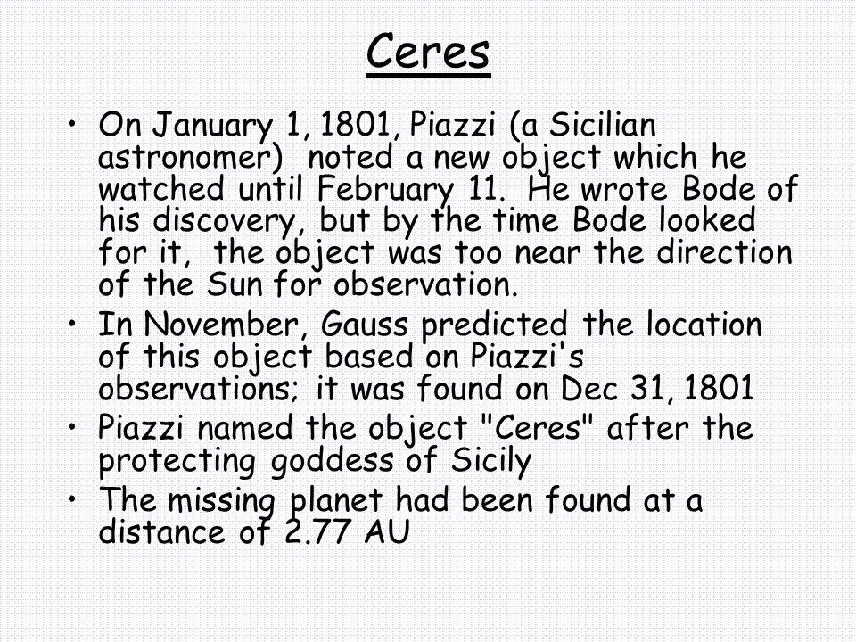 Ceres By 1890, over 300 more planets had been discovered in the same region (in regards to distance from the Sun) and Ceres was stripped of its planetary status.