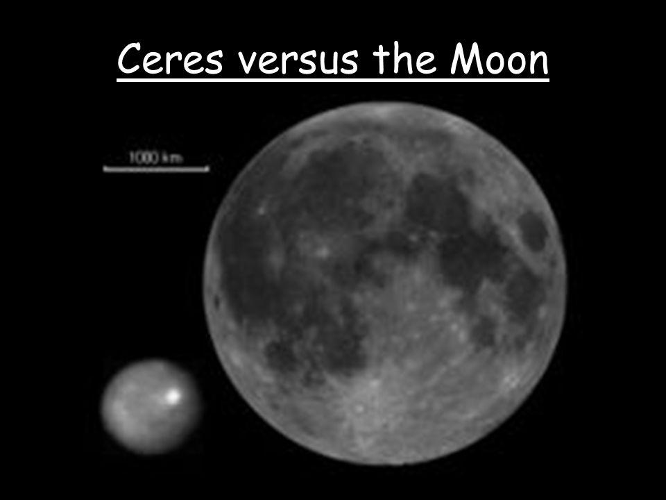Ceres versus the Moon