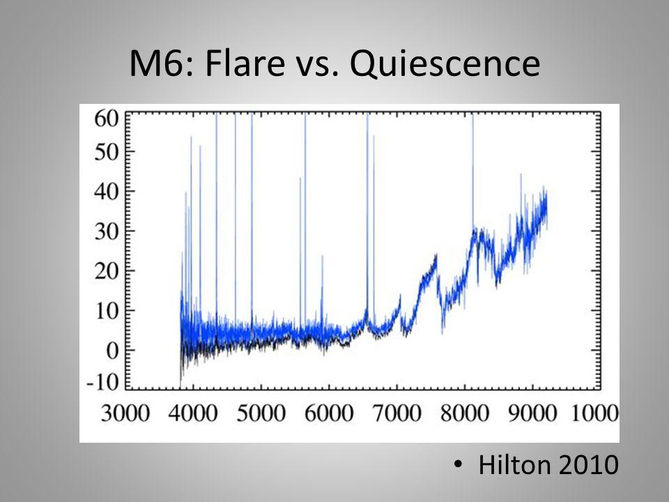 M6: Flare vs. Quiescence Hilton 2010