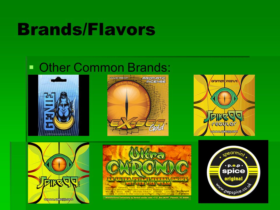 Brands/Flavors   Other Common Brands: