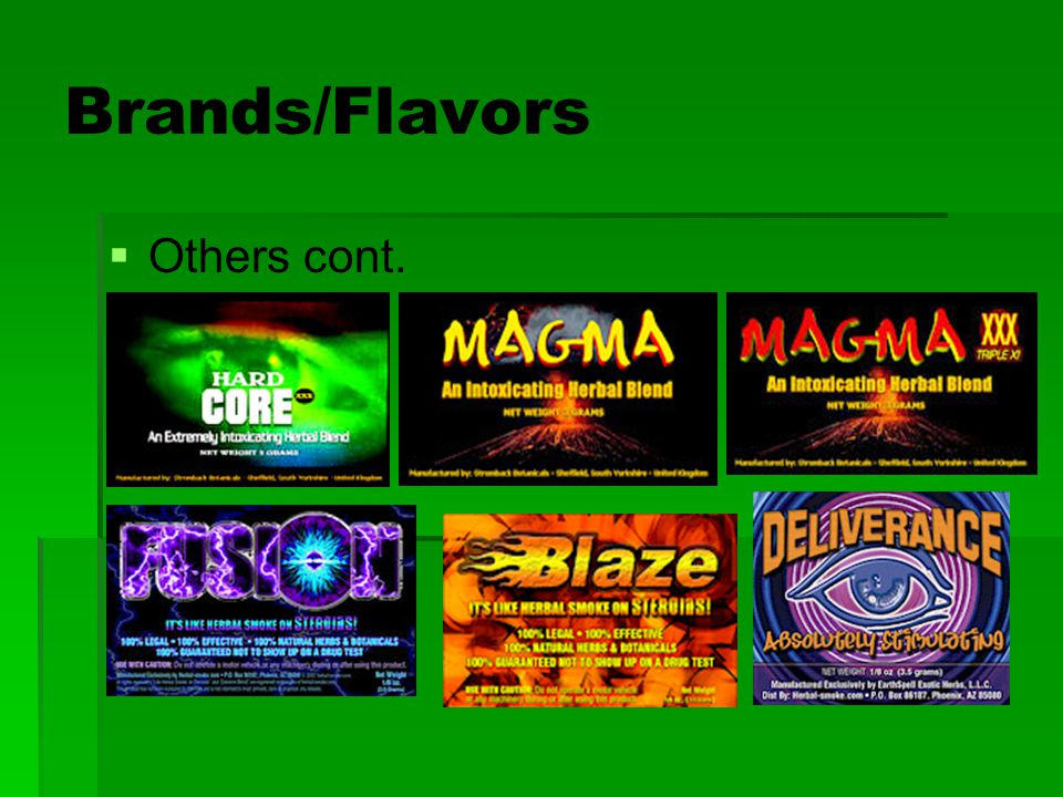Brands/Flavors   Others cont.