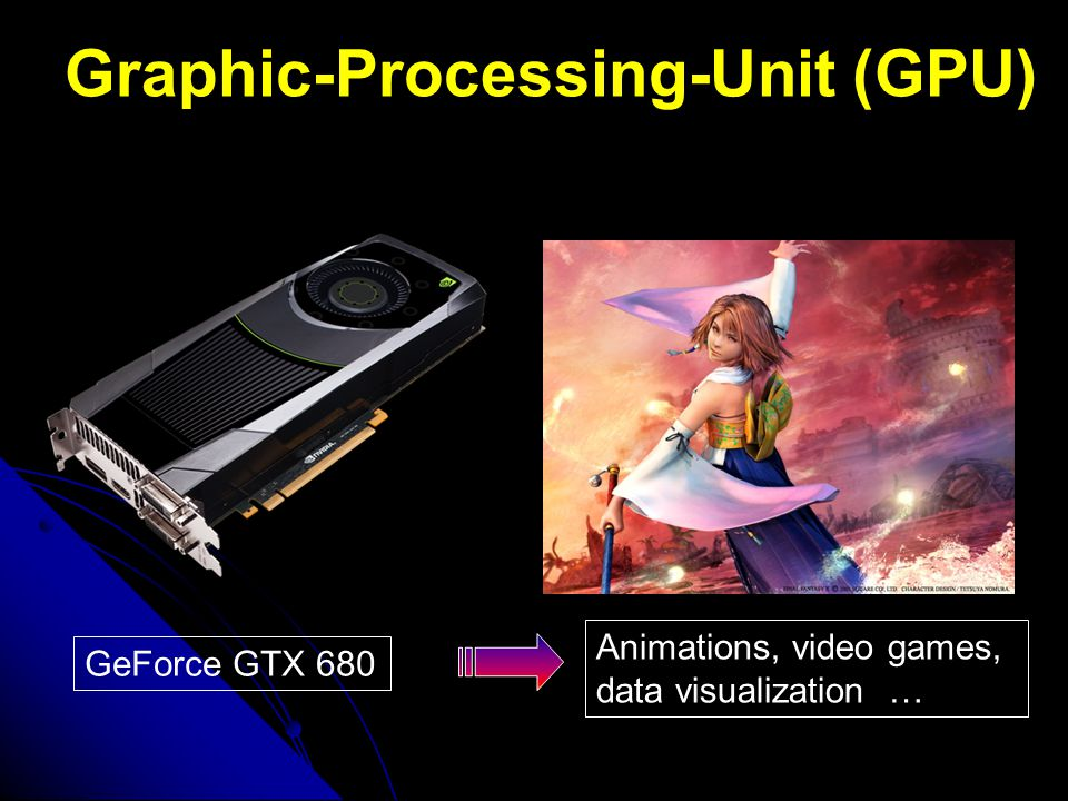 Graphic-Processing-Unit (GPU) GeForce GTX 680 Animations, video games, data visualization …