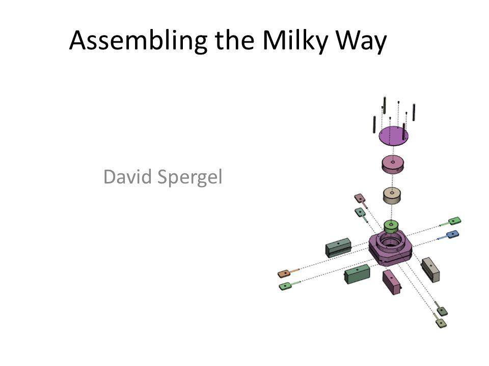 Assembling the Milky Way David Spergel