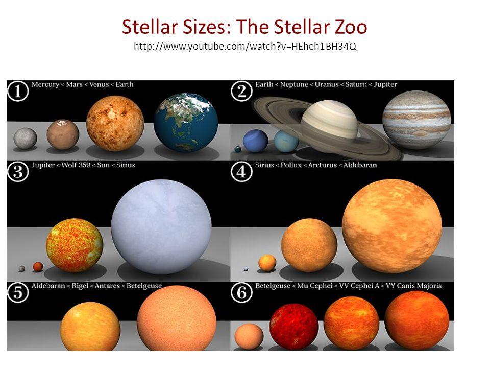 Stellar Sizes: The Stellar Zoo http://www.youtube.com/watch v=HEheh1BH34Q
