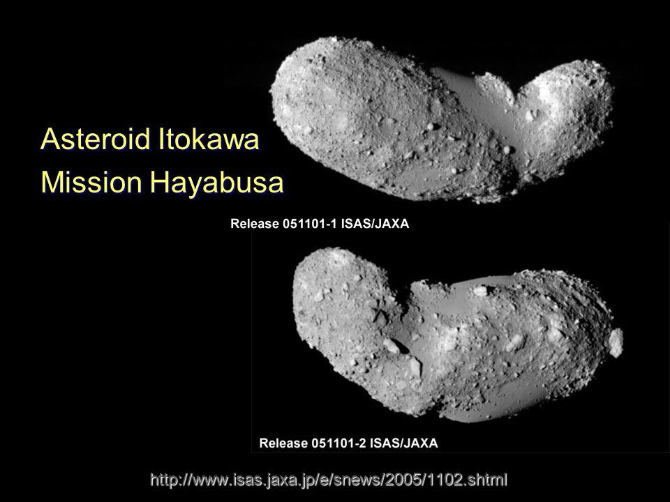 http://www.isas.jaxa.jp/e/snews/2005/1102.shtml Asteroid Itokawa Mission Hayabusa