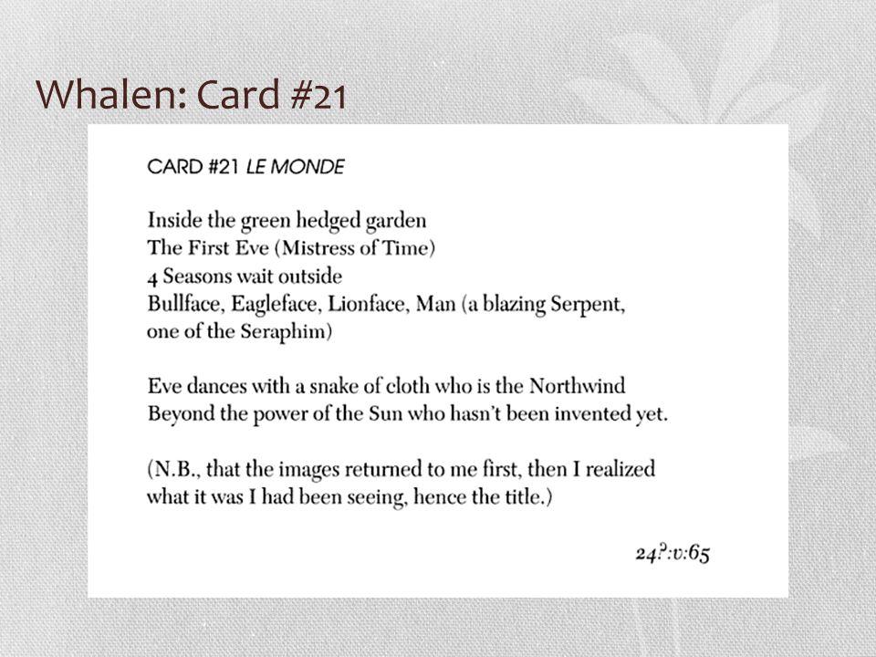 Whalen: Card #21