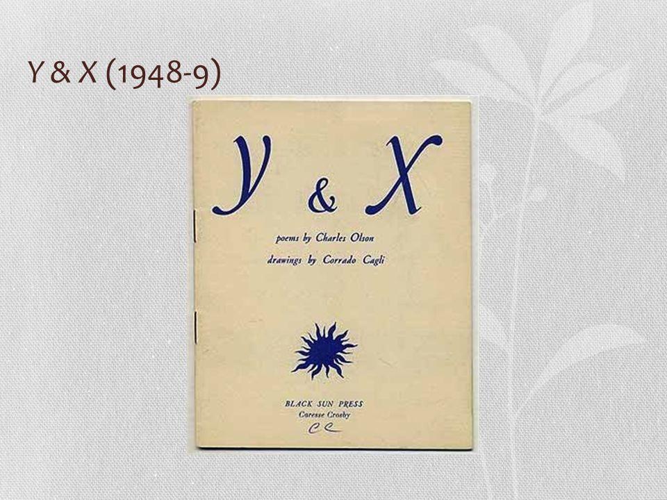 Y & X (1948-9)