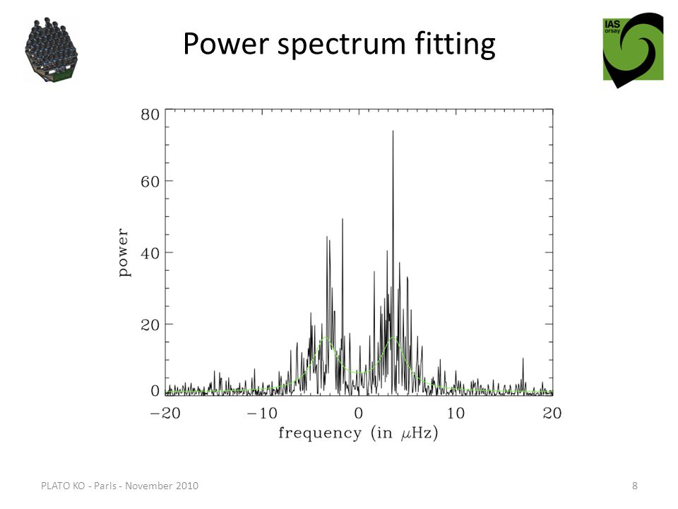 Power spectrum fitting PLATO KO - Paris - November 20108