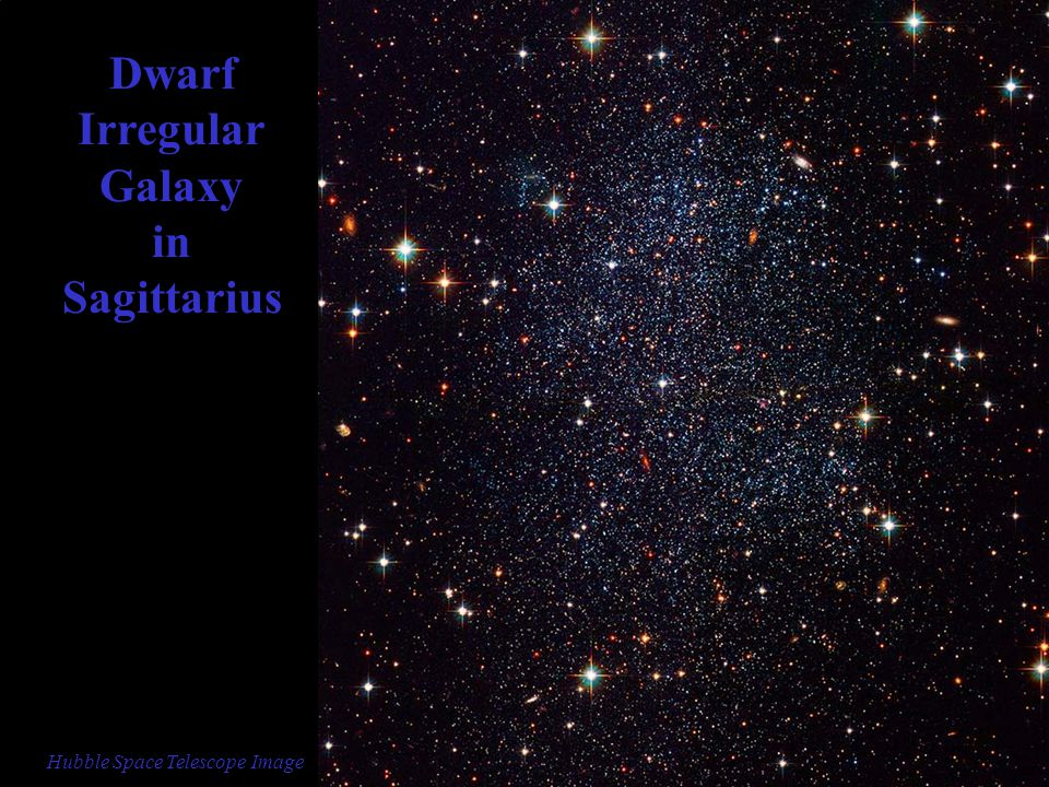 Dwarf Irregular Galaxy in Sagittarius Hubble Space Telescope Image
