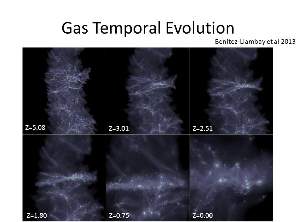 Gas Temporal Evolution Z=5.08 Z=3.01Z=2.51 Z=1.80Z=0.75Z=0.00 Benitez-Llambay et al 2013