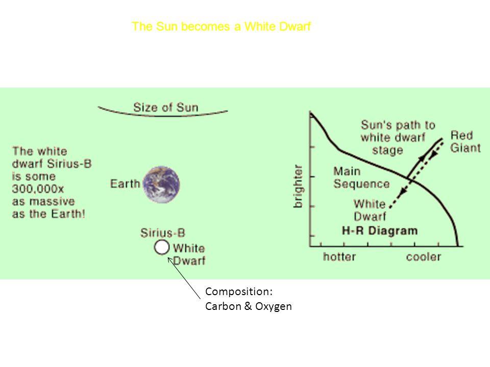 The Sun becomes a White Dwarf Composition: Carbon & Oxygen