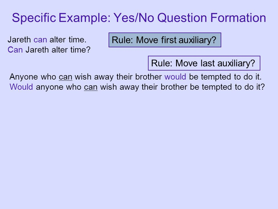 Rule: Move first auxiliary. Rule: Move last auxiliary.