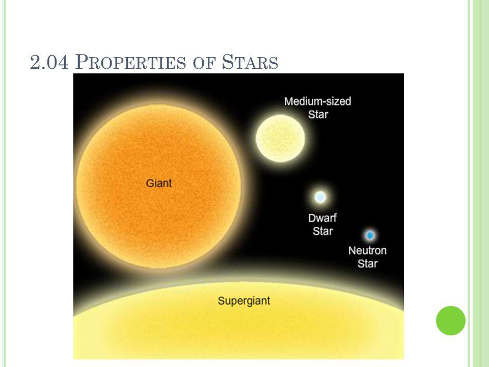2.04 P ROPERTIES OF S TARS