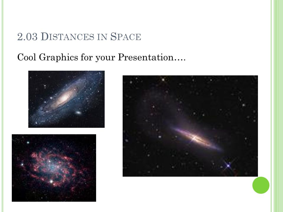 2.03 D ISTANCES IN S PACE Cool Graphics for your Presentation….
