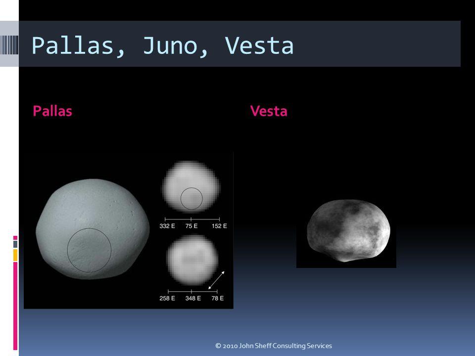 Pallas, Juno, Vesta PallasVesta © 2010 John Sheff Consulting Services