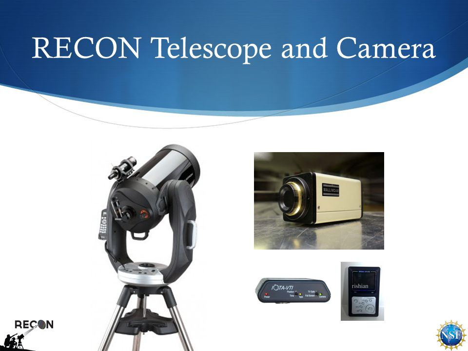 RECON Telescope and Camera