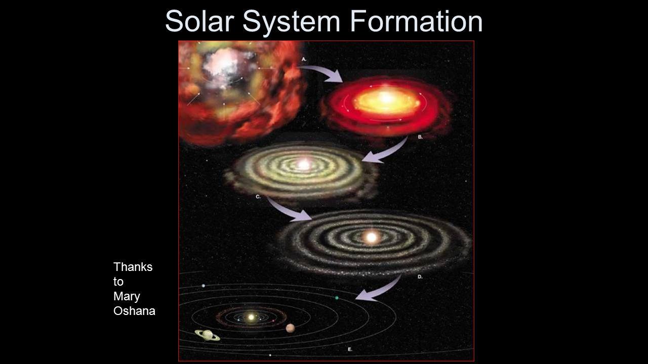 Solar System Formation Thanks to Mary Oshana
