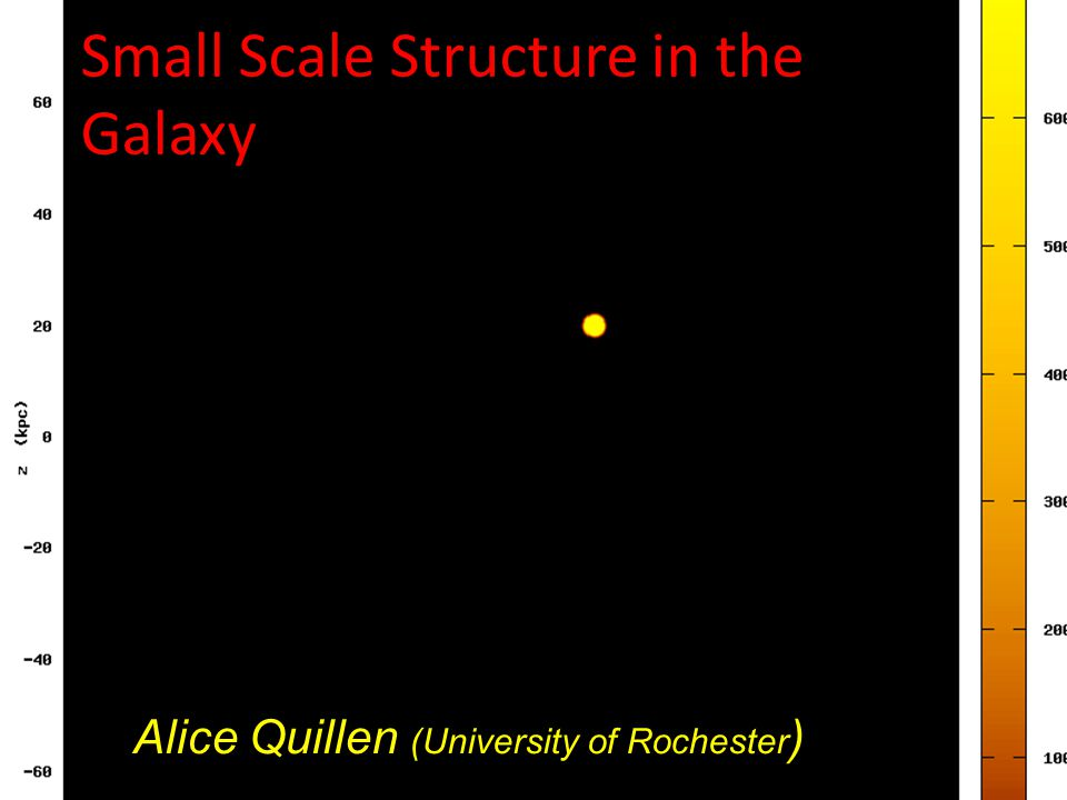 Small Scale Structure in the Galaxy Alice Quillen (University of Rochester ) movie by Justin Comparetta