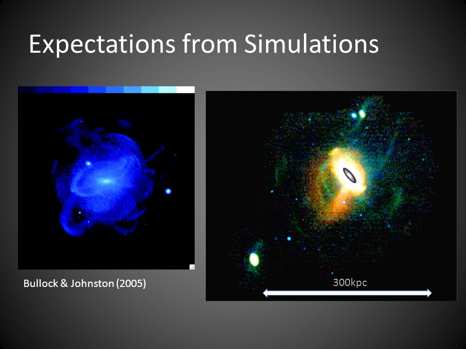 Bullock & Johnston (2005) 300kpc Expectations from Simulations