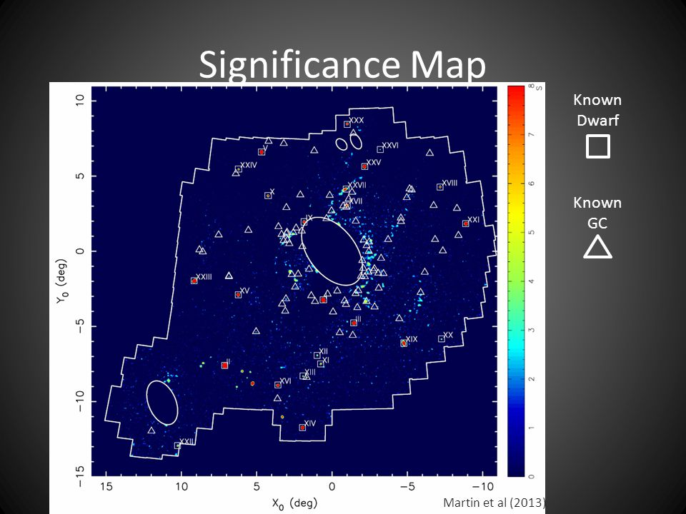 Significance Map Martin et al (2013) Known Dwarf Known GC