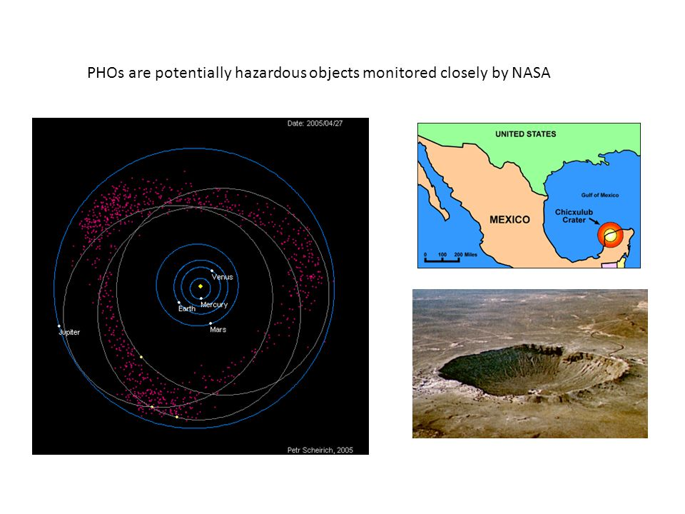PHOs are potentially hazardous objects monitored closely by NASA