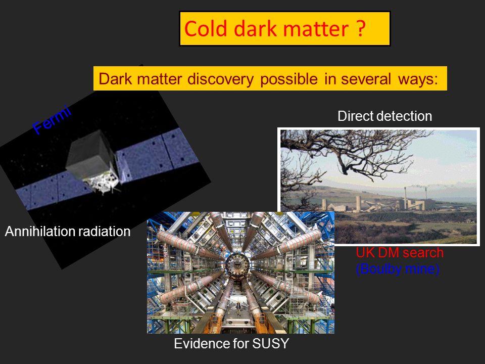 Cold dark matter .