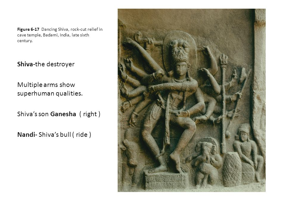 Figure 6-25 Shiva as Nataraja, ca.1000. Bronze. Naltunai Ishvaram Temple, Punjai.