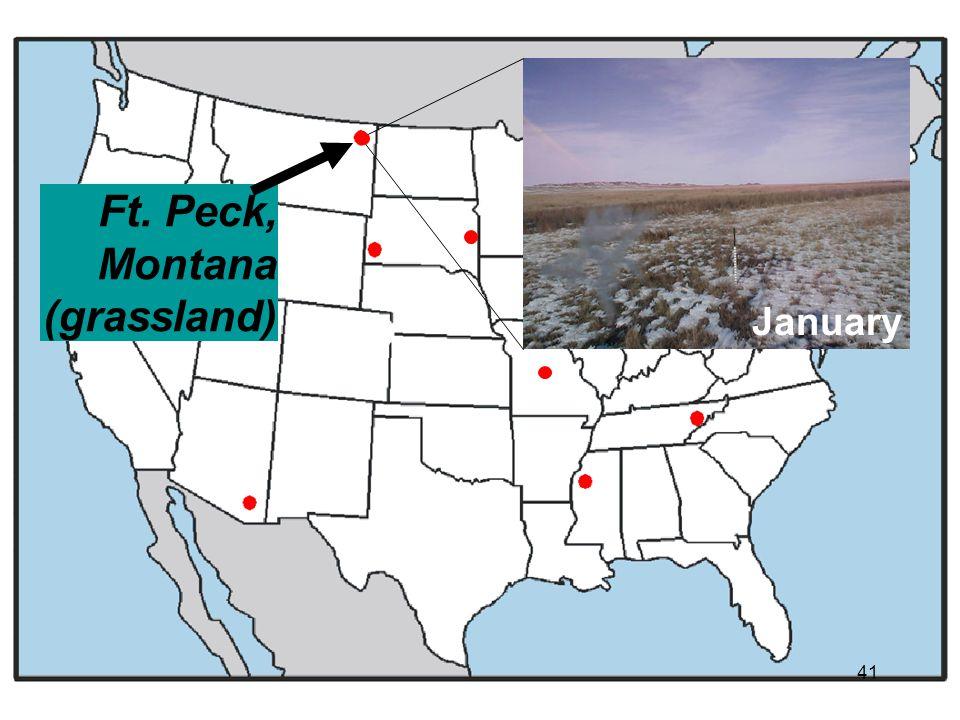 January Ft. Peck, Montana (grassland) 41
